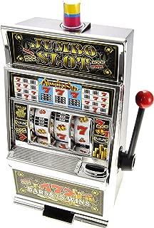 PowerTRC Lucky Sevens Jumbo Slot Machine Replica Piggy Bank Flashing Light and Sound