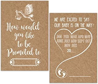 30 Pregnancy Announcement Cards, Pregnancy Announcement Ideas, Baby Announcement Pregnancy Reveal Card for Best Friend Get Promoted to Auntie Aunt Uncle Grandparent Sister Brother.