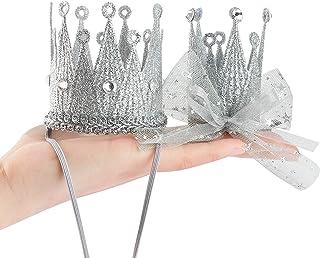 Qishare bébé fille garçon dame Photo accessoire couronne bandeaux élastiques épingle à cheveux, couronne de diadème prince...
