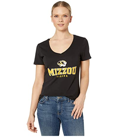 Champion College Missouri Tigers University V-Neck Tee (Black 2) Women