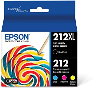 EPSON T212 Claria Ink High Capacity Black & Standard Color Cartridge Combo Pack (T212XL-BCS) for select Epson Expression a...