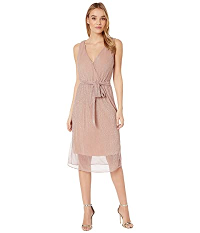 BB Dakota Love To Love You Lurex Pleated Knit Midi Dress (Rose Quartz) Women