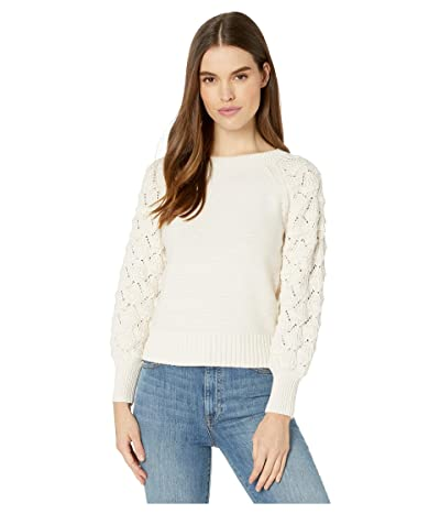 La Vie Rebecca Taylor Cotton Merino Pullover (Chalk) Women