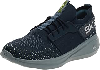 Skechers GO RUN FAST Men's Running Shoes, Navy Lime