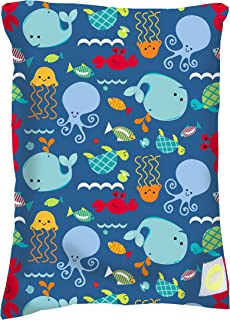"Itzy Ritzy Sealed Wet Bag – Washable and Reusable Wet Bag with Water Resistant Lining Ideal for Swimwear, Diapers, Gym Clothes & Toiletries; Measures 11"" x 14"", Under the Sea"
