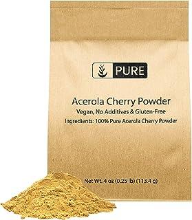 Acerola Cherry Powder, 4 oz, ½ TSP Serving, 100% Pure & Natural, Bioavailable & Potent Vitamin C, Non-GMO & Gluten-Free, E...