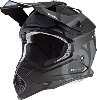 O'Neal 0200-S14 2Series Adult Helmet, Slick (Black/Gray, LG)