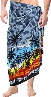 Bathingsuit Traje de baño de la Playa Sarong Hawaiano de los Hombres