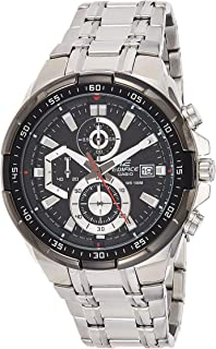 Casio Edifice Edifice Watch For Men Black Dial Stainless Steel Band - Efr-539D-1Avudf, Silver Band, Analog Display