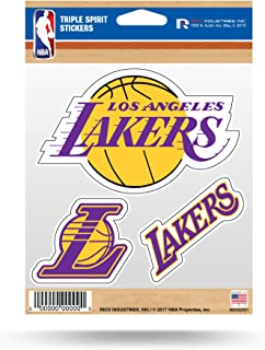 NBA Triple Spirit Stickersnba Triple Spirit Stickers, Red, Black, White, 3 Team Stickers