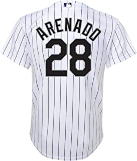 Outerstuff Nolan Arenado Colorado Rockies White Kids Cool Base Home Replica Jersey