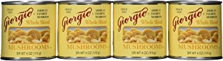 Giorgio whole sliced Mushrooms, 4 0z. Cans,12 Count