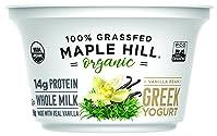 Maple Hill Creamery 100% Grass Fed Organic Greek Yogurt, Vanilla, 5.3 oz