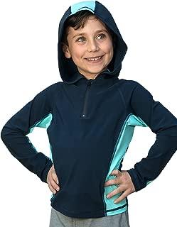 Waterhoody: Boys/Girls Ultra-Premium Swim Shirt/Rash Guard with a Hood (Dermatologist Designed)