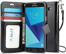 J&D Case Compatible for Galaxy J7 2017 / J7 V / J7 Perx / J7 Sky Pro Case, [Wallet Stand] [Slim Fit] Heavy Duty Protective Shock Resistant Flip Cover Wallet Case for Samsung Galaxy J7 2017 Wallet Case