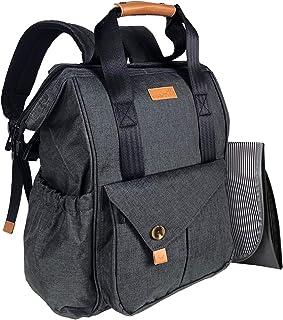 HapTim Baby Diaper Bag Backpack W/Stroller Straps- Multi-Function Designer Diaper Bags Large Capacity, Insulated Pockets,C...