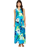 N by Natori - Blooming Mural Maxi Gown