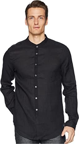 John Varvatos Collection Slim Fit Band Collar Shirt W538U1