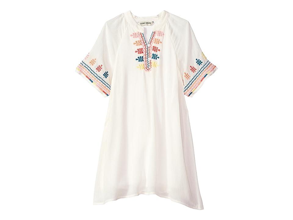 Lucky Brand Kids Roxanne Dress (Little Kids) (Whisper White) Girl
