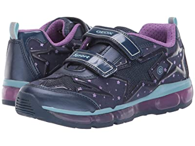 Geox Kids Jr Android 24 (Big Kid) (Blue/Purple) Girls Shoes