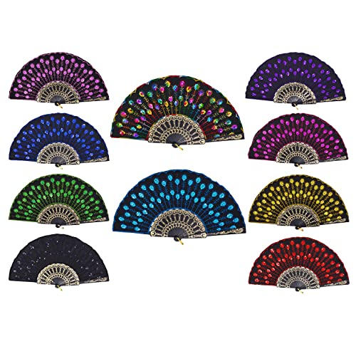 SPANISH LACED FOLDING FANS.