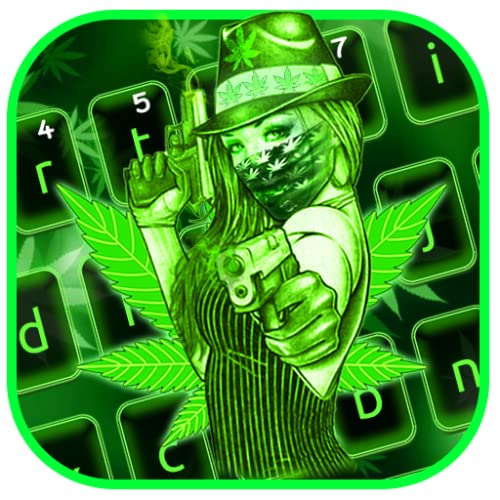 Cool Green Lady Rasta Keyboard Theme