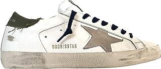 Golden Goose Sneakers Uomo Vintage Superstar G35MS590.Q82 Bianco-Verde (41 EU)