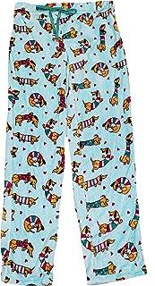 Dachshund Dog Mix Aqua Spa Superminky Fleece Lounge Sleep Pants