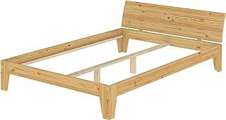 Erst-Holz Cadre de lit Adulte pin Naturel 160x200 lit Robuste et Moderne sans sommier ni Matelas 60.62-16oR