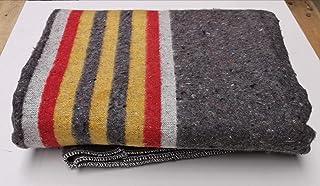 10 Stuck Umzugsdecken gestreift Gelb, Rot, Weiß - 150 x 200cm x 1350gr.