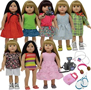 The New York Doll Collection 18 Inch Doll Clothes Dress and Doll Accessories fits American Girl Dolls - Doll Clothing Outf...