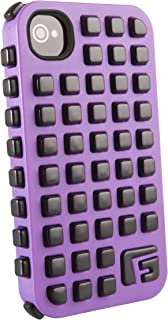 G-Form XTREME Grid Ruggedized Protective Case for Apple iPhone 4 & 4S (Purple Case/Black RPT)
