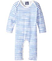 Toobydoo - Watercolor Blue Slim Leg Jumpsuit (Infant)