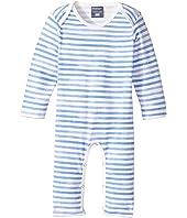 Toobydoo - Watercolor Blue Slim Leg Jumpsuit (Infant)