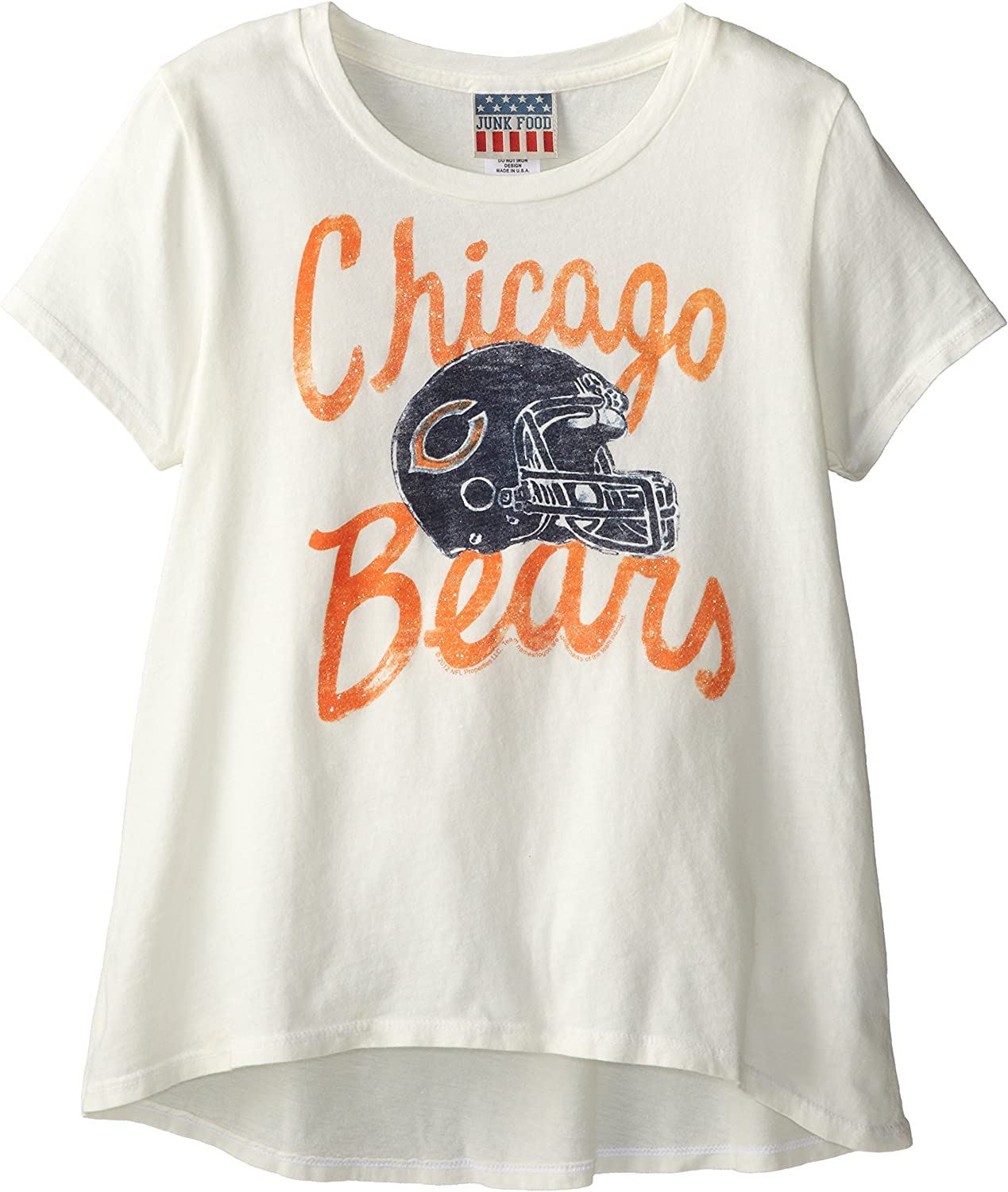 Junk Food NFL Girl's Youth Game Day Glitter Tee