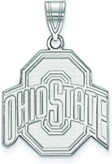 Ohio State Large (3/4 Inch) Pendant (Sterling Silver)