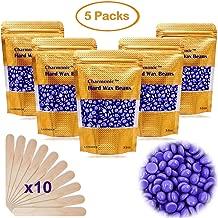 17.5 Oz Hair Wax Beans by Charmonic, Hard Body Wax Beans, Hair Removal Depilatory Wax European Beads for Women Men 500g/17.5Oz (lavender)