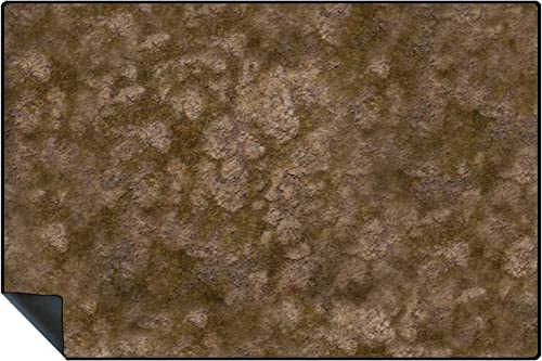 6ftx4ft Tabletop Terrain Battle Mat in Rubber Mouse Mat Material with Stiched Edge - Highlands Design