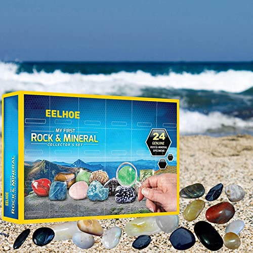 high quality Mega Rock, Fossil new arrival & Mineral Collection & Activity Kit, Kids Rocks Collection - 24PCS Rock and Mineral Education Set - Rough 2021 Rocks, Polished Gems Stone - Gemstones Set Box - Science Gift for Kids online