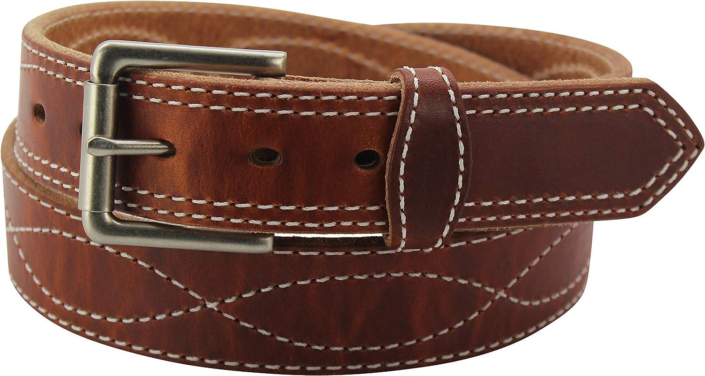 35% OFF Men's Leather Belt – Figure 8 Stitched Premium - Heavy Japan's largest assortment Duty
