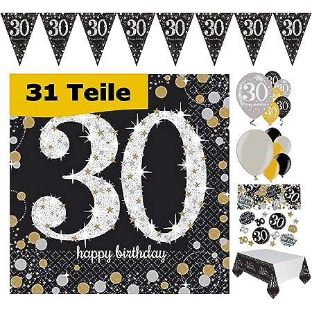 Geburtstag Tischdeko Streudeko Konfetti XXL Zahl 30 silber 6 Stück 5 cm groß 30