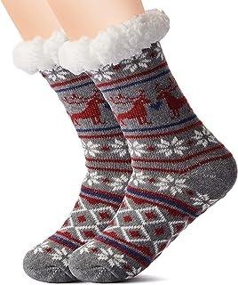 Christmas Sherpa slippers socks