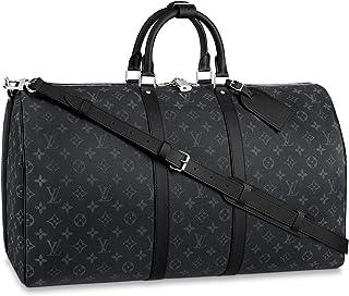 Louis Vuitton Monogram Eclipse Keepall Bandouliere Travel Bag (Keepall 55)