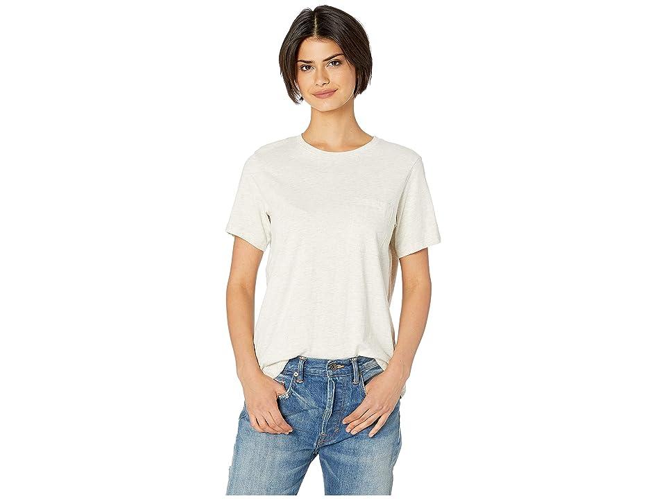Richer Poorer Crew Pocket Tee (Oatmeal) Women's T Shirt