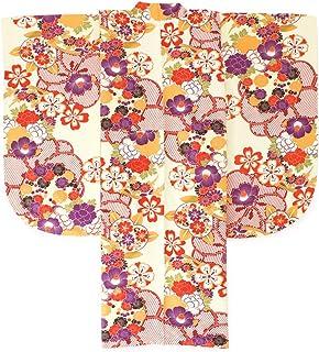 (ソウビエン) 袴用二尺袖着物 キスミス 薄黄色 クリーム系 赤 紫 梅 桜 牡丹 椿 花 レトロモダン 小振袖 卒業式 女性 レディース 仕立て上がり