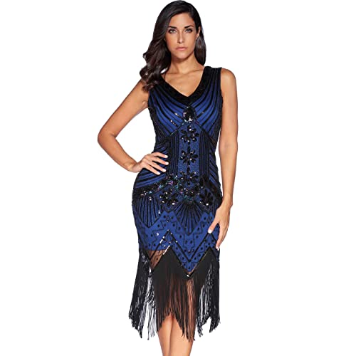64258682bc034 Meilun 1920s Sequined Vintage Dress Beaded Gatsby Flapper Evening Dress Prom