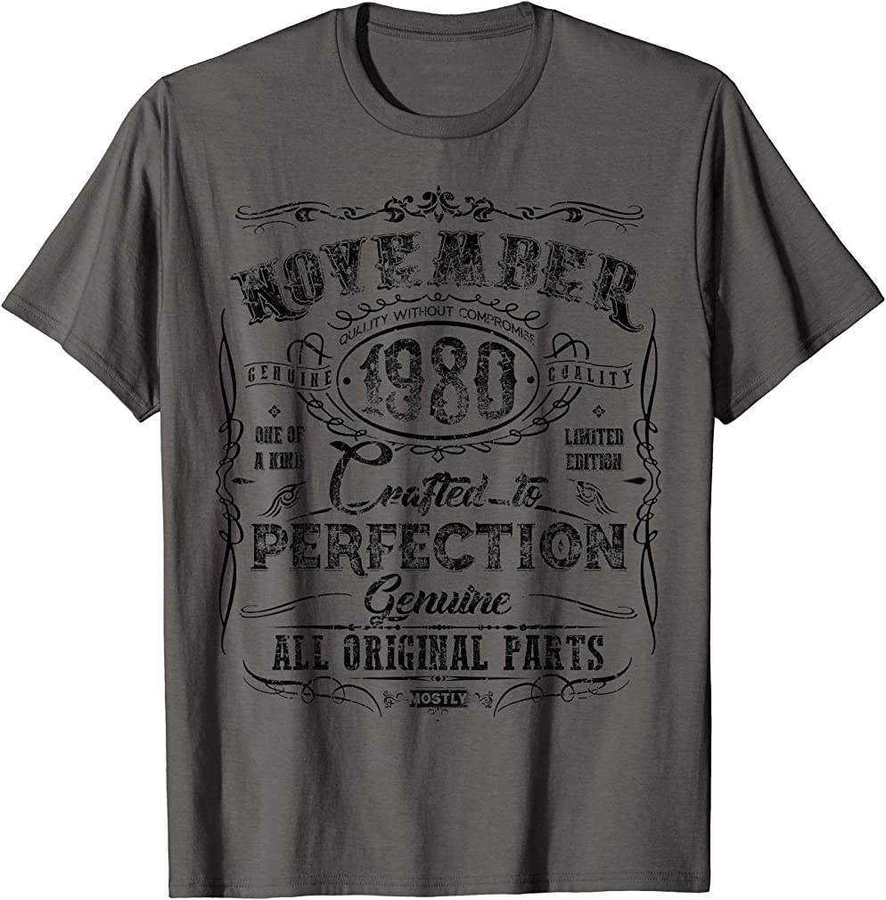 Classic 39th Birthday Gift 39 Year Old Vintage November 1980 T-shirt