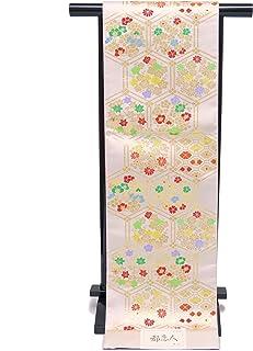 袋帯 正絹 新品 七五三 十三参りに 子供用 全通柄の袋帯「シルバー 亀甲」JFS504