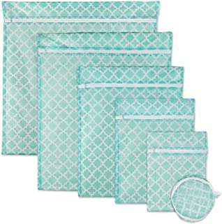 DII Set of 6 Mesh Laundry Bags for Delicates, Bra, Underwear, Hosiery, Stocking, Lingerie, Travel Storage, and Closet Orga...