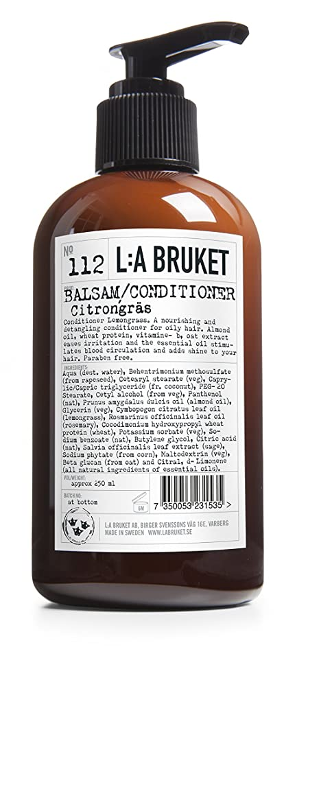 しない無線またL:A Bruket No. 112コンディショナーレモングラス250ml